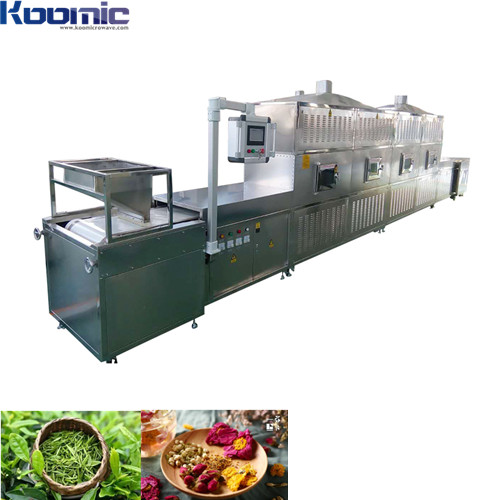 High Efficiency Microwave Flower Tea Drying and Sterilizing Machine