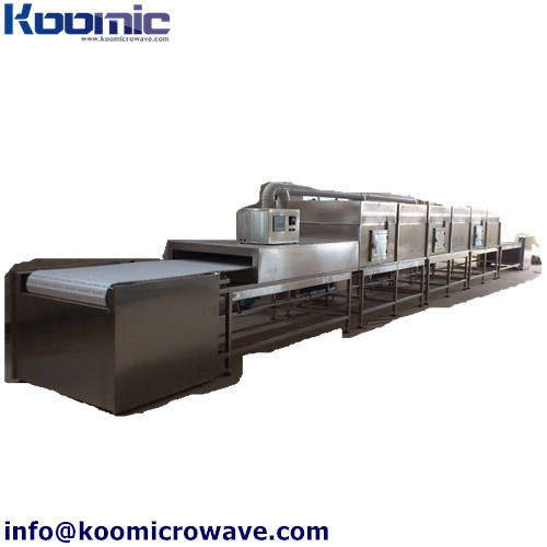 High Efficiency  Automatic Wine microwave tunnel dryer