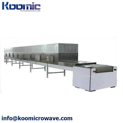 Continuously Type Meat Microwave Thawing Equipment