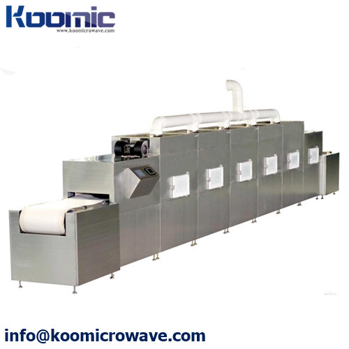 50KW Continuous Microwave System for Drying Shatavari Asparagus Stevia Moringa Root