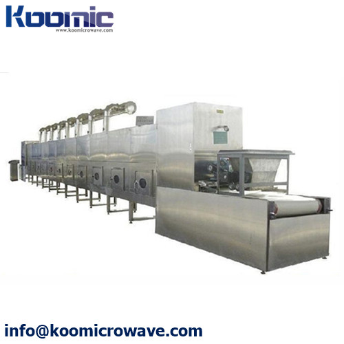 Tunnel Continuous Microwave Egg Yolk Drying Equipment